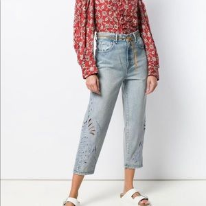 LEVI'S: MADE & CRAFTED Barrel crop jeans. 31x26